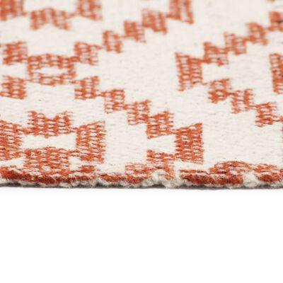 vidaXL Alfombra de algodón Kilim estampado multicolor 200x290 cm