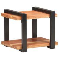 vidaXL Mesita de noche de madera maciza de acacia 50x40x40 cm