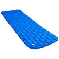 vidaXL Colchón de aire inflable azul 58x190 cm