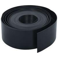 vidaXL Borde de jardín PE negro 10 m 10 cm