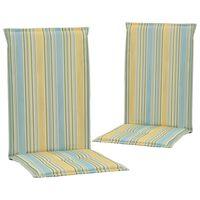 vidaXL Cojines de sillas jardín 2 uds estampado multicolor 120x50x3 cm