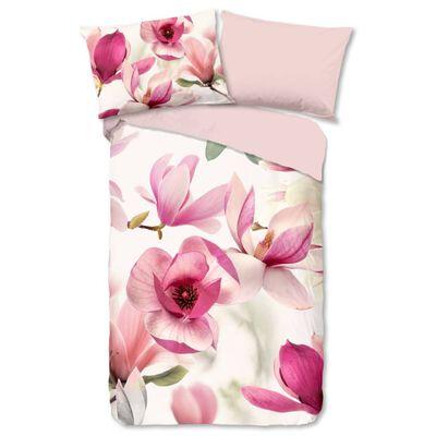 Good Morning Funda de edredón MAGNA 155x220 cm rosa y blanco