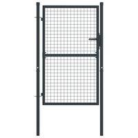 vidaXL Puerta de malla de jardín acero galvanizado gris 100x175 cm