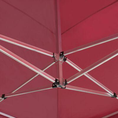 vidaXL Carpa plegable profesional de aluminio rojo vino tinto 6x3m