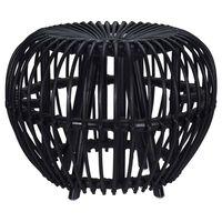 Home&Styling Taburete Kubu Brussel ratán negro