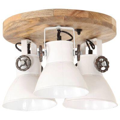 vidaXL Lámpara de techo industrial 25 W blanco 42x27 cm E27