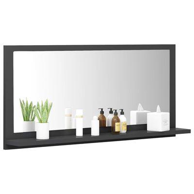 vidaXL Espejo de baño aglomerado gris 80x10,5x37 cm