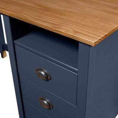 vidaXL Escritorio Hill Range 3 cajones madera pino gris 120x50x74 cm