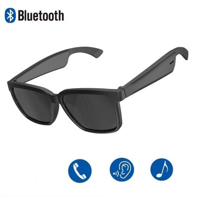 Gafas de sol con auriculares integrados - negro