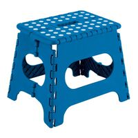 Taburete Multiuso Plegable Azul 29X22X27Cm - ARREGUI - Tb027A