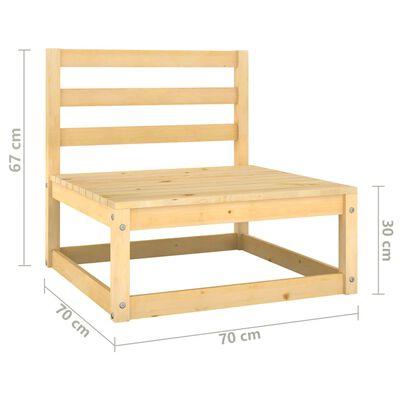 vidaXL Juego de muebles de jardín 9 pzas y cojines madera pino maciza