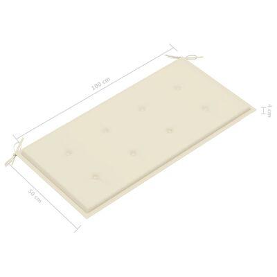 vidaXL Cojín para banco de jardín color crema 100x50x4 cm