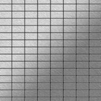 ALLOY Bauhaus-S-S-B Mosaico de metal sólido Acero inoxidable gris