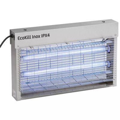 Kerbl Matamosquitos Eléctrico EcoKill Acero Inoxidable IPX4 2x15 W 299935
