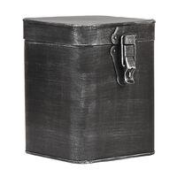 LABEL51 Caja de almacenaje negro envejecido L 15x16x19 cm