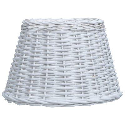 vidaXL Pantalla de lámpara de mimbre blanco 45x28 cm