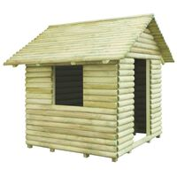 vidaXL Casa de juegos de madera de pino impregnada 167x150x151 cm