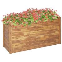 vidaXL Arriate de madera maciza de acacia 160x60x84 cm