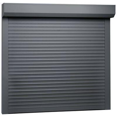 vidaXL Persiana enrollable aluminio gris antracita 160x150 cm