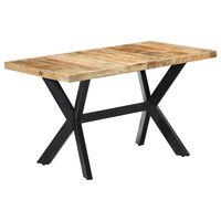 vidaXL Mesa de comedor madera maciza de mango en bruto 140x70x75 cm