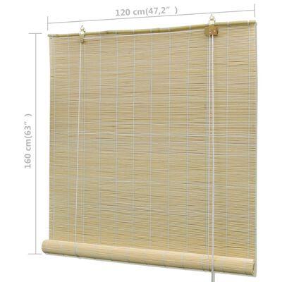 vidaXL Persianas enrollables de bambú natural 120x160 cm