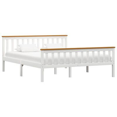 vidaXL Estructura de cama de madera maciza de pino blanca 160x200 cm