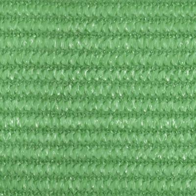 vidaXL Toldo de vela HDPE verde claro 160 g/m² 5x5 m