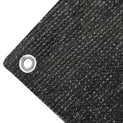 vidaXL Toldo para balcón HDPE 75x400 cm gris antracita
