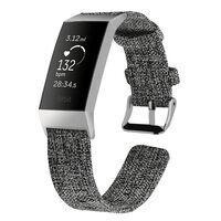 Fitbit Charge 3/4 Pulsera de lona gris oscuro - S