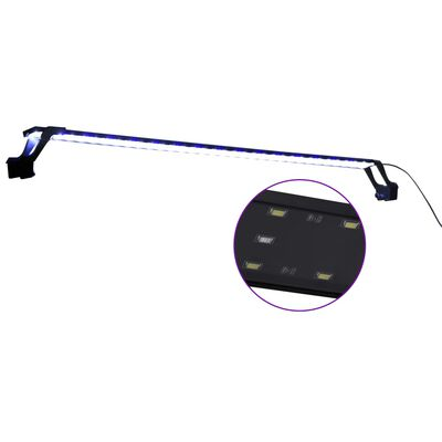 vidaXL Luz LED para acuario con abrazaderas azul y blanco 115-130 cm