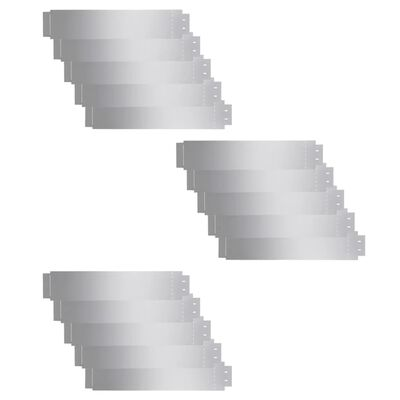 vidaXL Cercas para césped 15 piezas acero galvanizado 100x20cm
