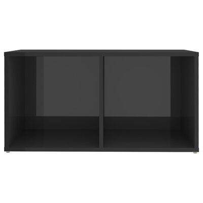 vidaXL Muebles para TV 4 uds aglomerado gris brillante 72x35x36,5 cm