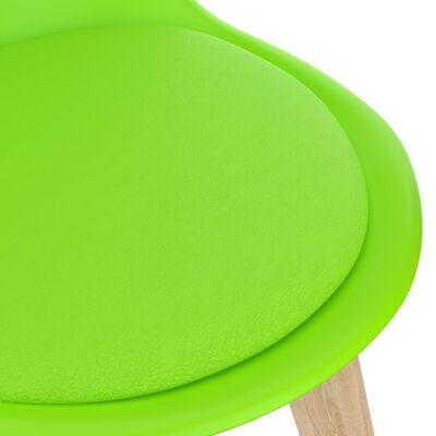 vidaXL Juego de comedor 5 piezas verde