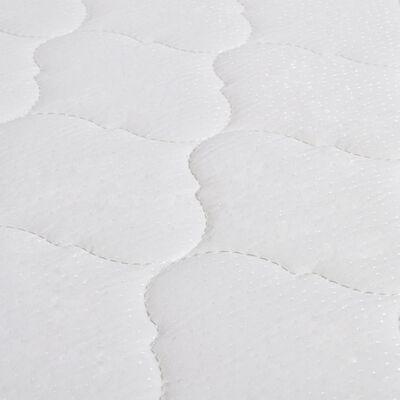 vidaXL Cama con colchón viscoelástico cuero sintético negro 160x200cm