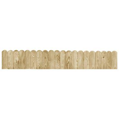 vidaXL Rollos de borde de jardín 3 uds madera pino impregnada 120 cm