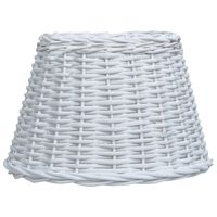 vidaXL Pantalla de lámpara de mimbre blanco 38x23 cm