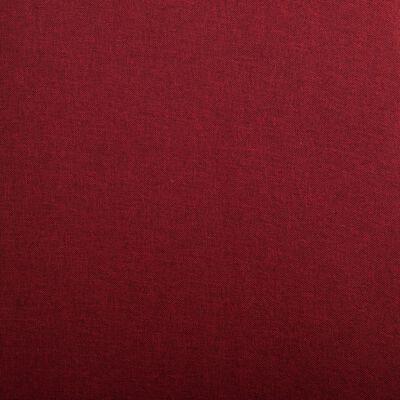 vidaXL Sillas comedor 2 unidades de tela color vino tinto