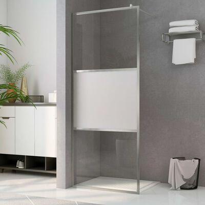 vidaXL Mampara de ducha accesible vidrio ESG medio esmerilado 80x195cm