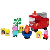 BIG Juego de camión de bomberos Bloxx Peppa Pig 40 piezas