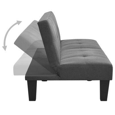 vidaXL Sofá cama de tela gris