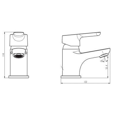 SCHÜTTE Grifo mezclador de lavabo VICO cromado