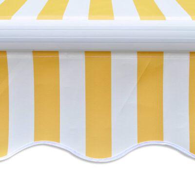 vidaXL Toldo plegable de 400 cm amarillo y blanco