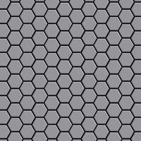 ALLOY Honey-S-S-MA Mosaico de metal sólido Acero inoxidable gris