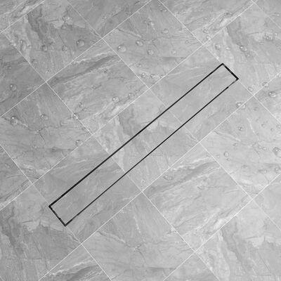 vidaXL Desagüe lineal de ducha de acero inoxidable 930x140 mm
