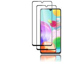 Paquete de 2 protectores de pantalla para Samsung Galaxy A41 negro