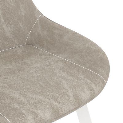 vidaXL Sillas de comedor 2 unidades cuero sintético gris claro