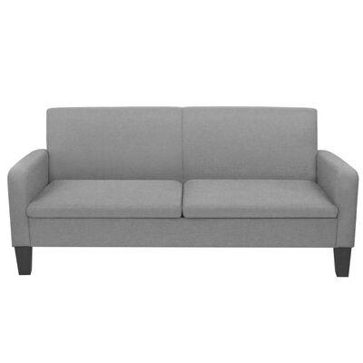 vidaXL Sofá de 3 plazas 180x65x76 cm gris claro