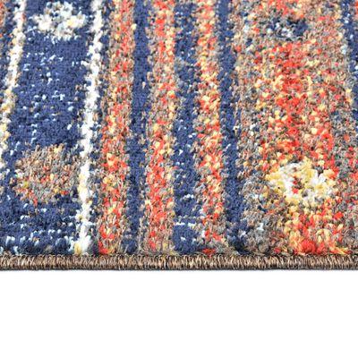 vidaXL Alfombra de PP azul y naranja 120x170 cm
