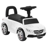 vidaXL Coche para niños Mercedes Benz C63 blanco
