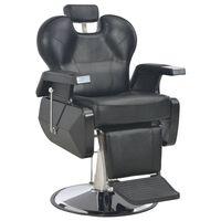 vidaXL Silla de peluquería de cuero sintético negra 72x68x98 cm